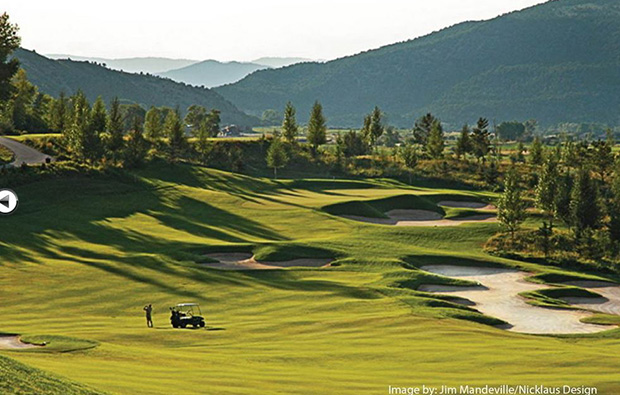 hole 5 bunkers, legend hill golf resort, hanoi, vietnam