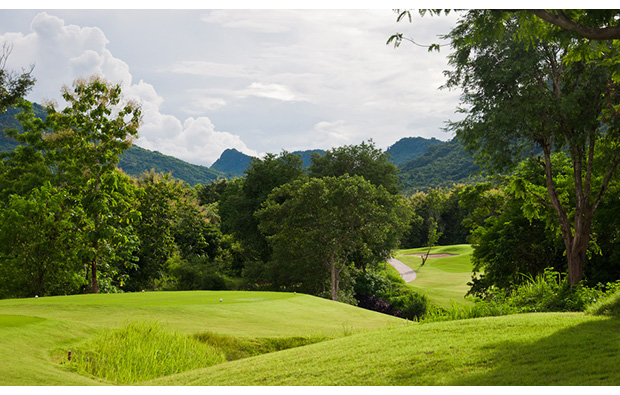 fairway at luang prabang golf club, luang prabang, laos