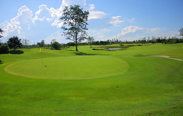 green, mae jo golf club, chiang mai, thailand