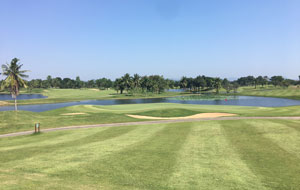 lake and mountains, majestic creek golf club, hua hin, thailand