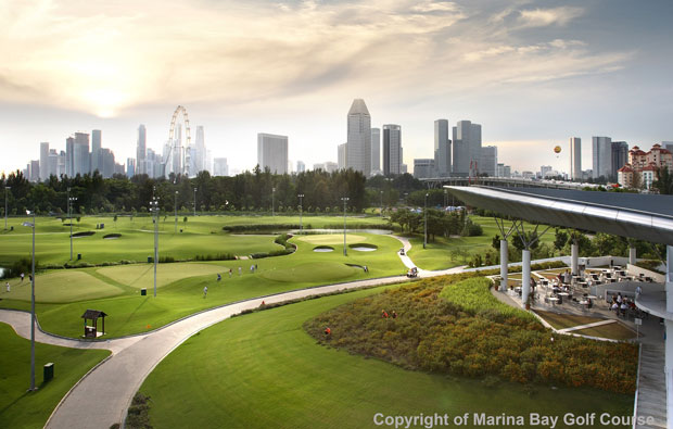 Marina Bay Golf Course clubhouse