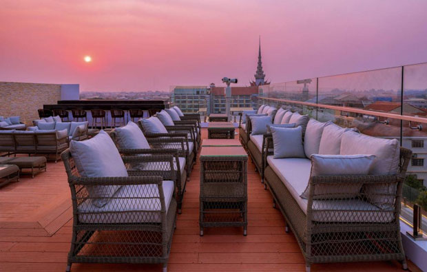 Marriott Hotel Rooftop Terrace