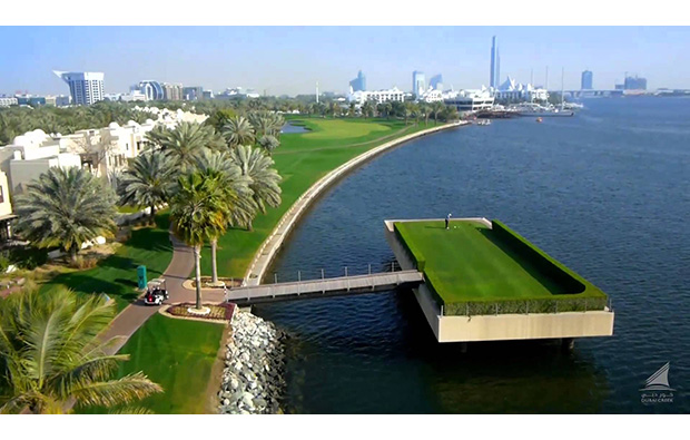 waterside at dubai creek golf club, dubai, united arab emirates