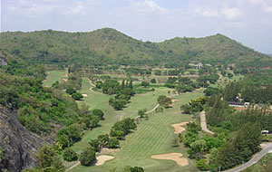 aerial view, milford golf club, hua hin, thailand
