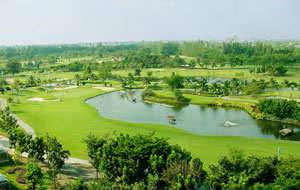 panorama view, navatanee golf course, bangkok, thailand