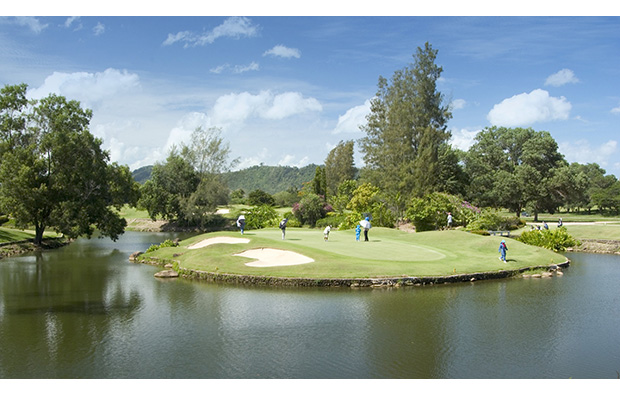 17th green phuket country club, phuket