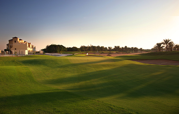 green at al hamra golf club, dubai, united arab emirates