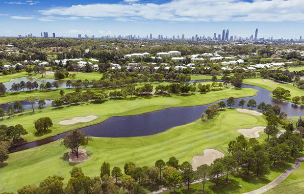 Another aerial view of Royal Pines Golf Club, Gold Coast, Australia