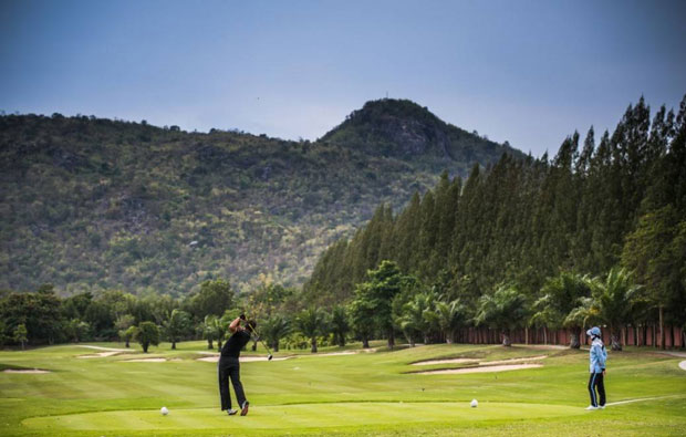 tee box Sea Pines Golf Course, hua hin, thailand