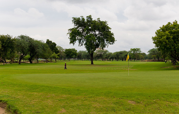 Shwe Mann Taung Golf Resort wide open fairways