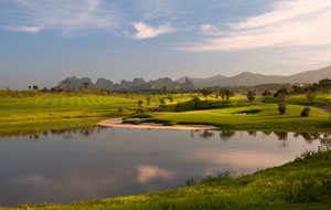 lake at sky lake golf resort lakes course, hanoi, vietnam