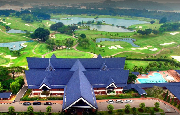 southlinks country club, batam island, indonesia - aerial view
