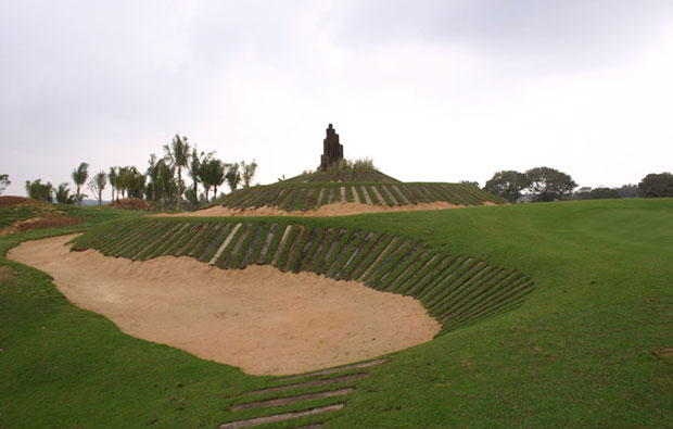 Bunker at Stone Quarry Golf Course Mission Hills