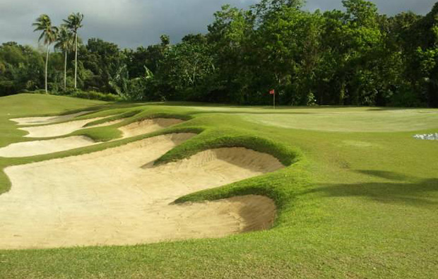Bunkers at Summit Point Golf Country Club, Manila, Philippines