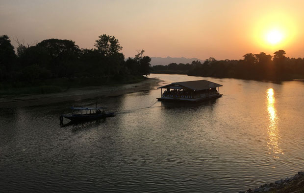 Sunset over River Kwai