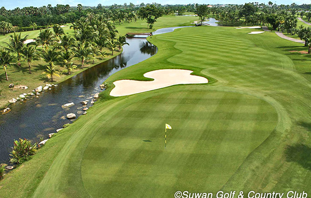water hazard, suwan golf country club, bangkok, thailand