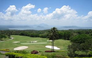 Aerial view of Tagaytay Midlands Golf Club, Manila, Philippines