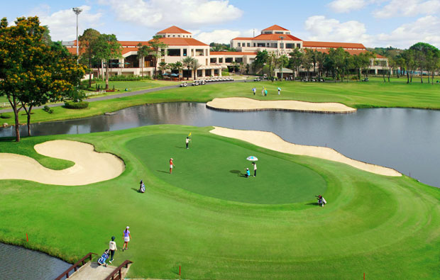 clubhouse, thana city golf club, bangkok, thailand