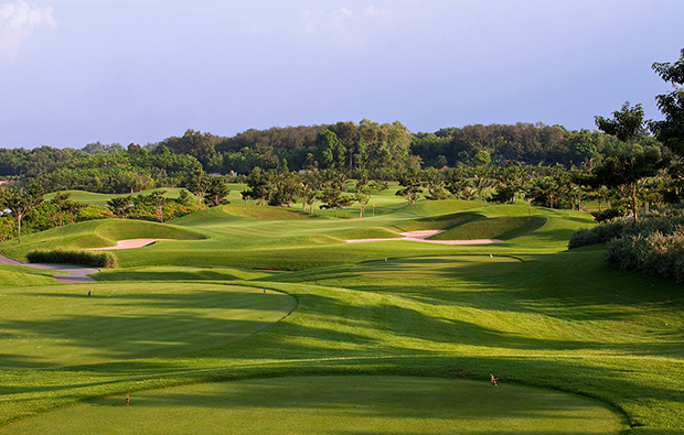 panorama, twin doves golf club, ho chi minh, vietnam