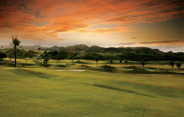 Sunset over FA Korea Golf Country Club, Clark, Philippines
