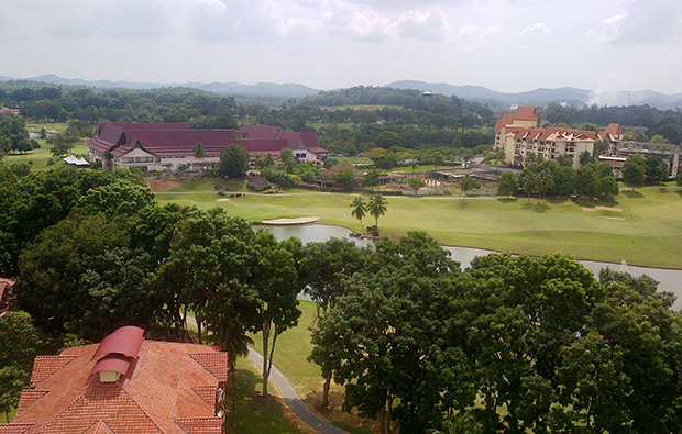 view over a famosa golf resort, malacca, malaysia