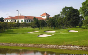 small green slope at warren golf country club in singapore
