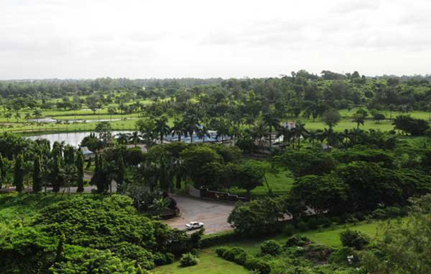 Yangon City Golf Course YCDC aerial